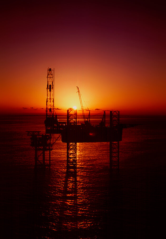 Offshore Sunset Helicopter Work